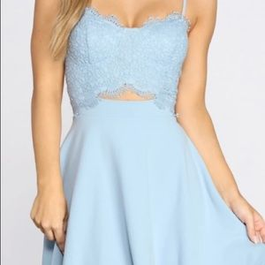 Crush on you Lace Bust Skater Dress